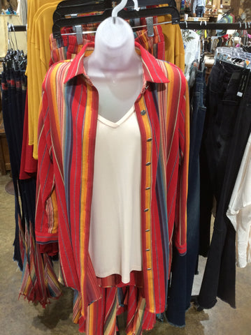 Red Serape Tunic