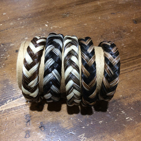 Horse Hair Bracelet Braided 2 TONE