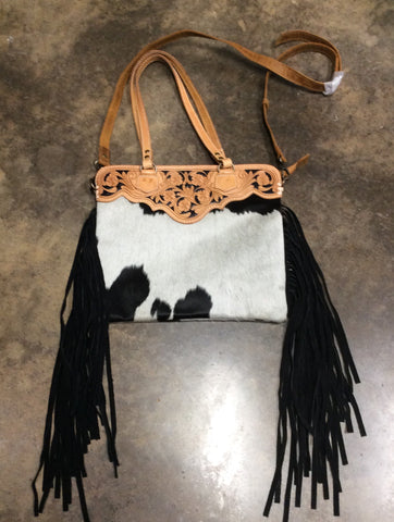 American Darling Cowhide purse with fringe