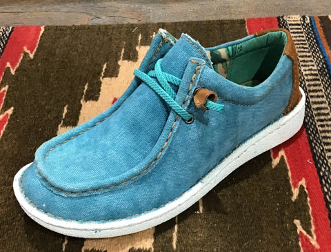 HAZER TURQUOISE SHOE BY JUSTIN
