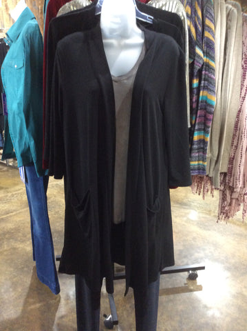 Black Duster with Pockets