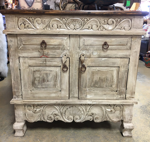 Small Antique White 3ft Vanity