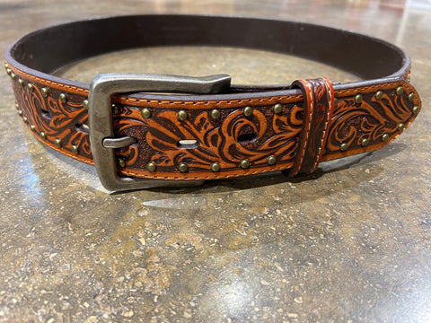 Men's 3D BELT COMPANY TOOLED BELT