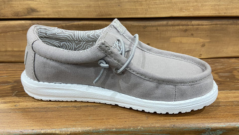 WALLY YOUTH GREY HEY DUDE SHOES