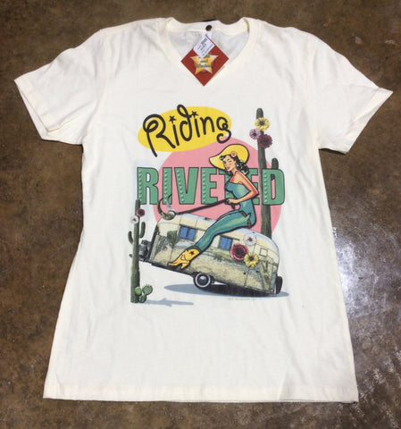 Riding Rivited tee
