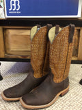 Anderson Bean Boar Hide with Bulldog Tan Square Toe Boots 3500M