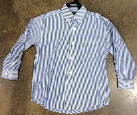 Blue long sleeve button down shirt