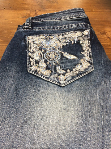 Grace In LA Dream Catcher Bootcut Jeans