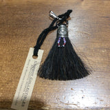 Horse Hair Zipper Pull with Beads
