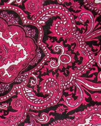 Paisley Red & Black Silk Scarf