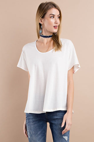 Deep Scoop Neck Top