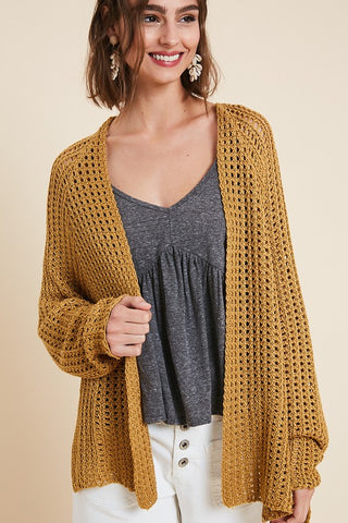 Loose knit Gold Cardigan