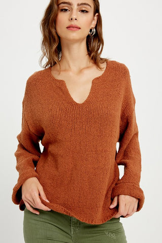 Notch Neck Sweater