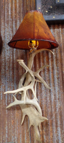 Fallow and Whitetail Antler Sconce