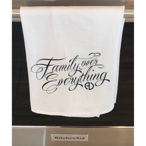 Family Over Everything Tea Towel
