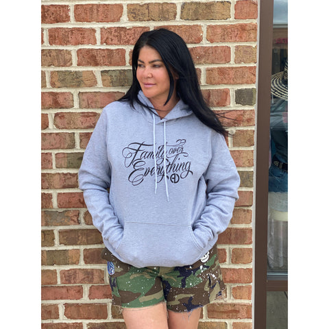 Family Over Everything Hoodie - Grey