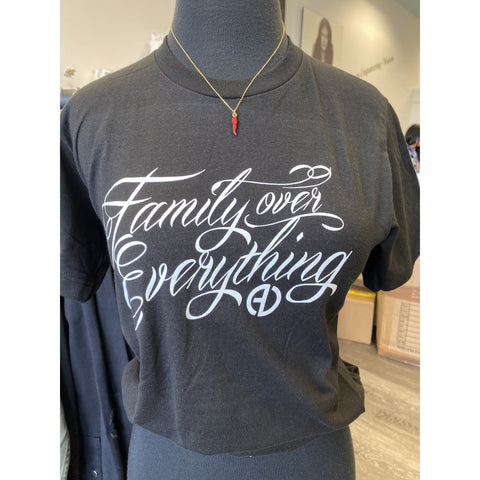 Family Over Everything Tee - Black