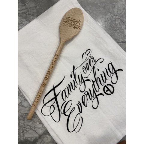 Family Over Everything Wooden Spoon