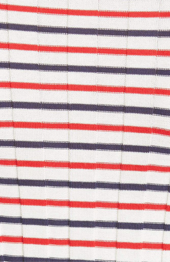 Philosophy Di Lorenzo Serafini - Philosophy Di Lorenzo Serafini Stripe Rib Cotton Sweater - Buy Online