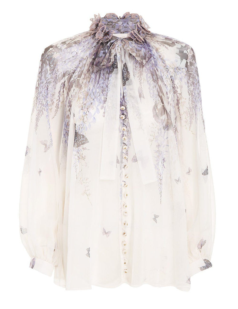 Zimmermann Luminous Lantern Sleeve Blouse