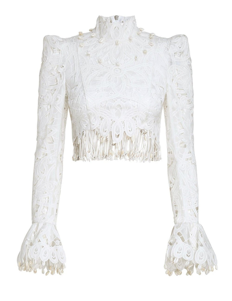 Zimmermann - Zimmermann Wavelength Fringed Bodice - Buy Online