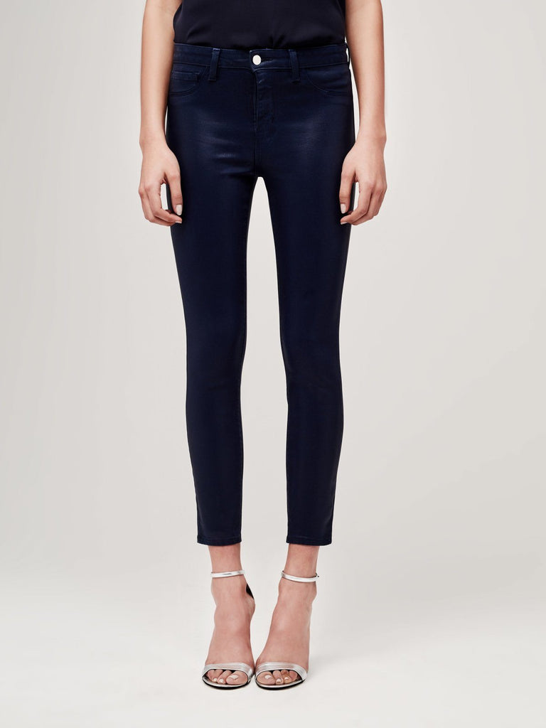 L'Agence - L'Agence Margot High Rise Coated Pant - Buy Online