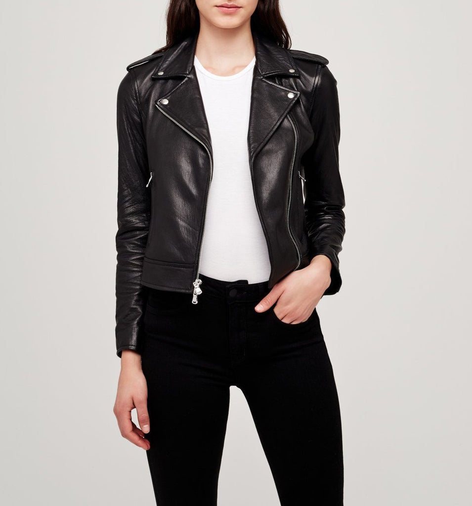 L'Agence - L'Agence Biker Leather Jacket - Buy Online
