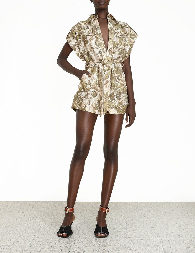 Zimmermann Brighton Cuffed Playsuit