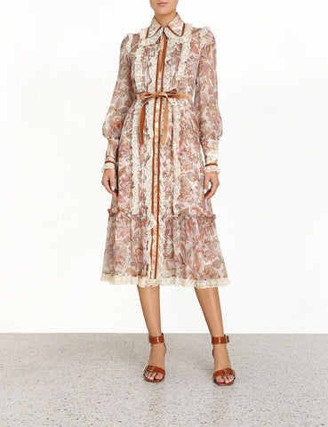 Zimmermann Lucky Lace Collar Dress