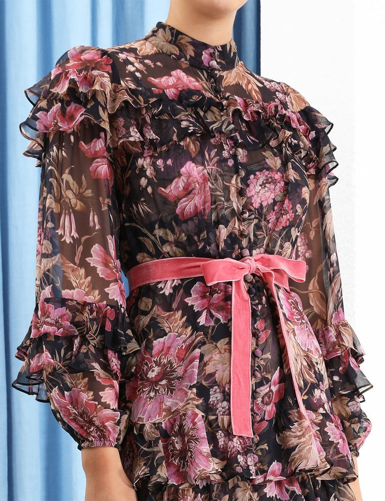 Zimmermann Lucky Tiered Frill Mini Dress