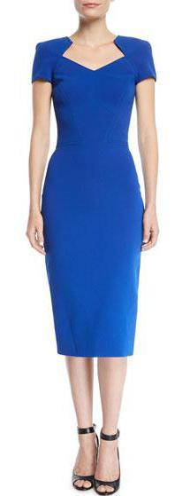 Zac Posen - Zac Posen Short Sleeve Body Con Midi Dress - Buy Online