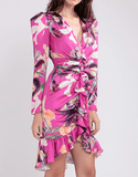 PatBO - PatBo Grace Print Belted Knee-Length Dress - Buy Online