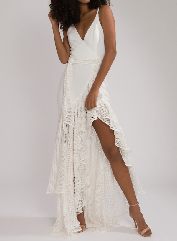 PatBO - PatBo Mesh Trim Linen Maxi Dress - Buy Online