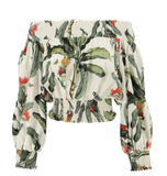 PatBO - PatBo Tropical Off Shoulder Top - Buy Online