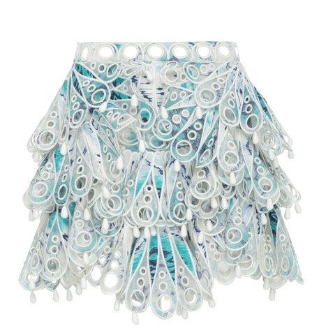 Zimmermann Glassy Bubble Flip Skirt