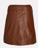 Divine Heritage Vegan Leather Mini Wrap Skirt
