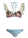Zimmermann Carnaby Two-Piece Floral Frill Bikini Set