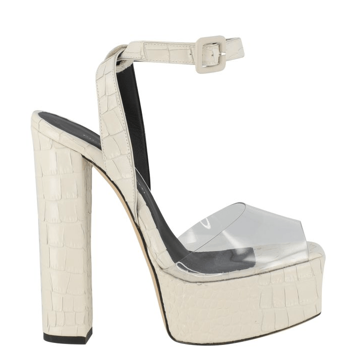 Giuseppe Zanotti Lavinia Croc-Embossed Leather & PVC Platform Sandals
