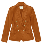 L'Agence Kenzie Leather Blazer
