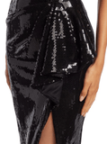 Pamella Roland Liquid Sequin Cocktail Dress