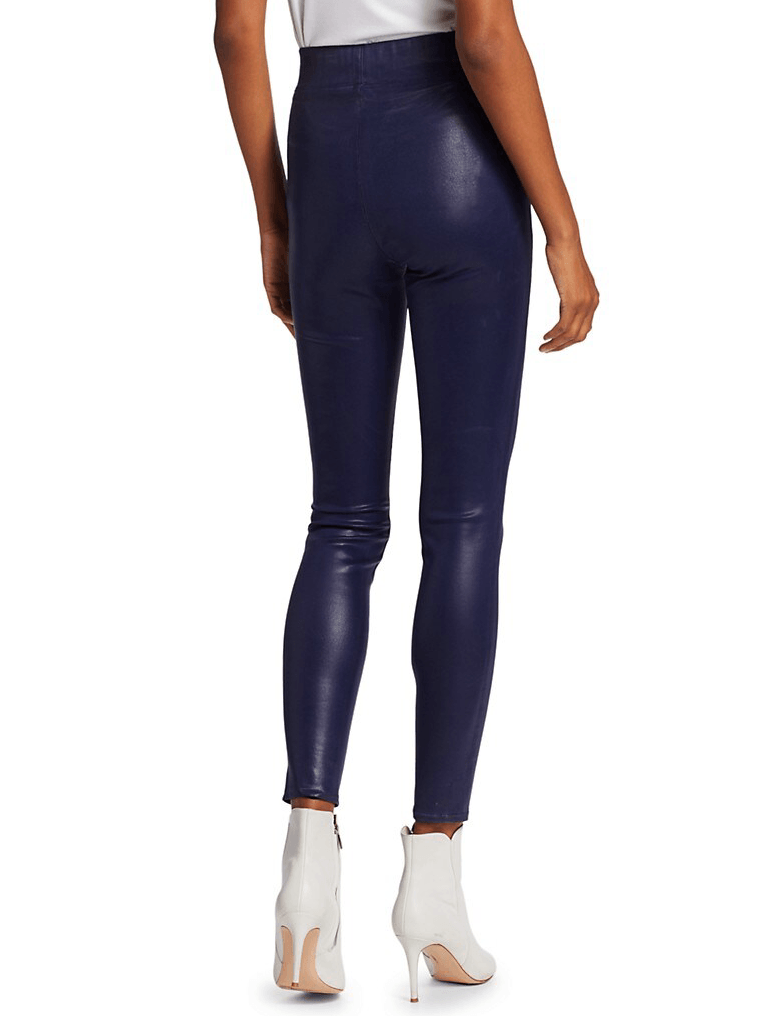 L'Agence Rochelle High-Rise Pull-On Coated Jeans