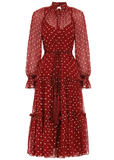 Zimmermann Ladybeetle Swing Midi Dress
