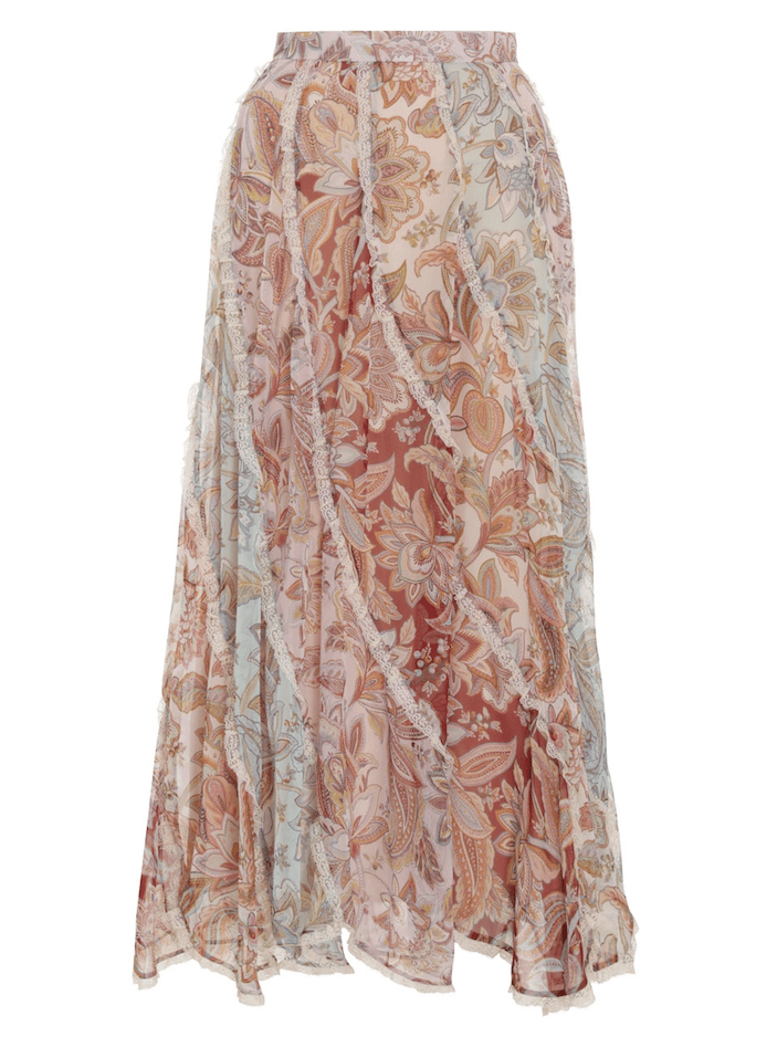 Zimmermann Ladybeetle Spliced Midi Skirt