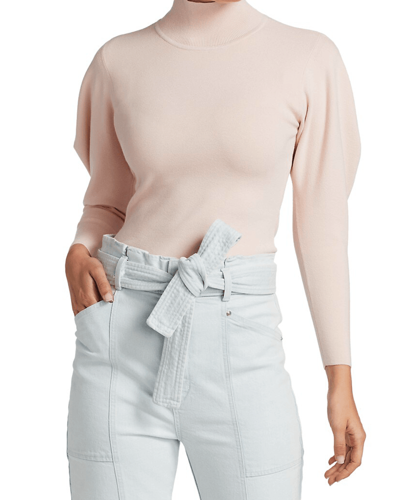 A.L.C. Samuel Puff-Sleeve Turtleneck Sweater