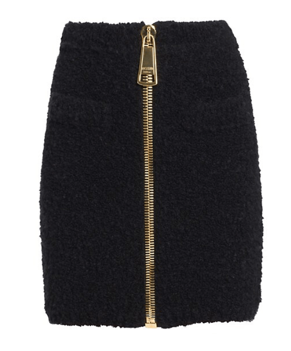 Moschino Oversized Zip Fluffy Skirt