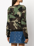 Moschino Camouflage Knitted Sweater