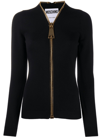 Moschino Oversized Zipper Cardigan
