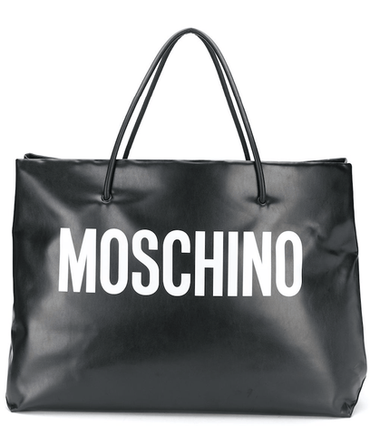 Moschino Oversized Logo-Print Tote Bag