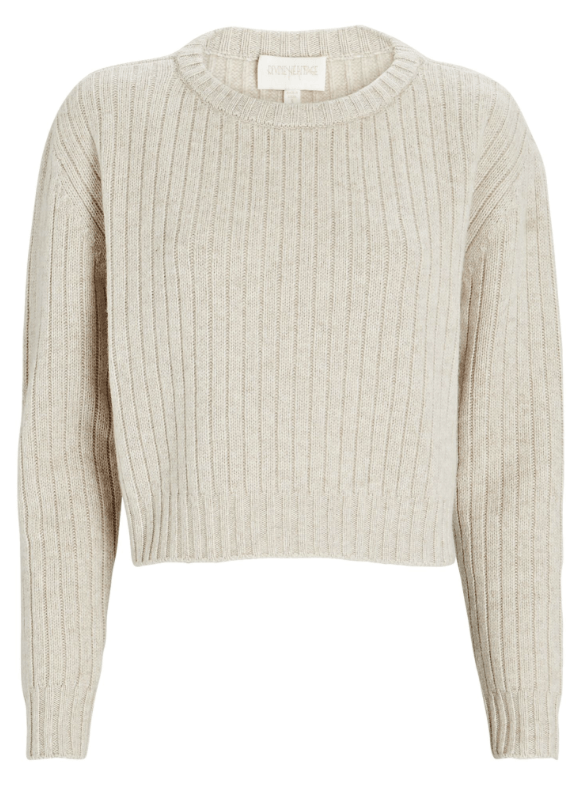 Divine Heritage Cropped Wool-Cashmere Sweater