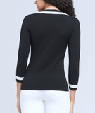 L'Agence Axelle V-Neck Knit Top
